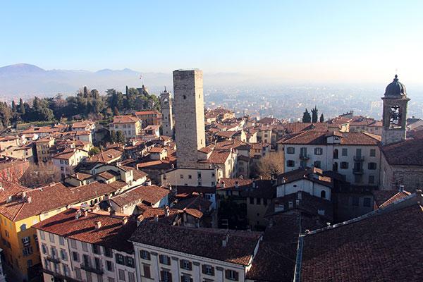 vista dal Campanone Bergamo