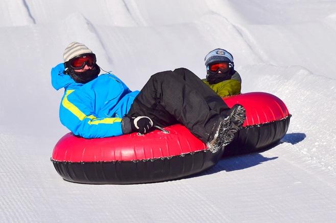 snow-tubing
