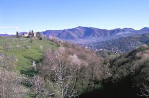 Vista del Canto Alto dai Colli di Bergamo