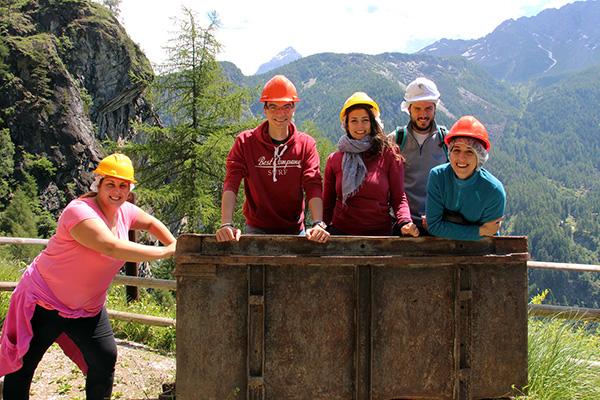 foto di gruppo miniera della bagnada